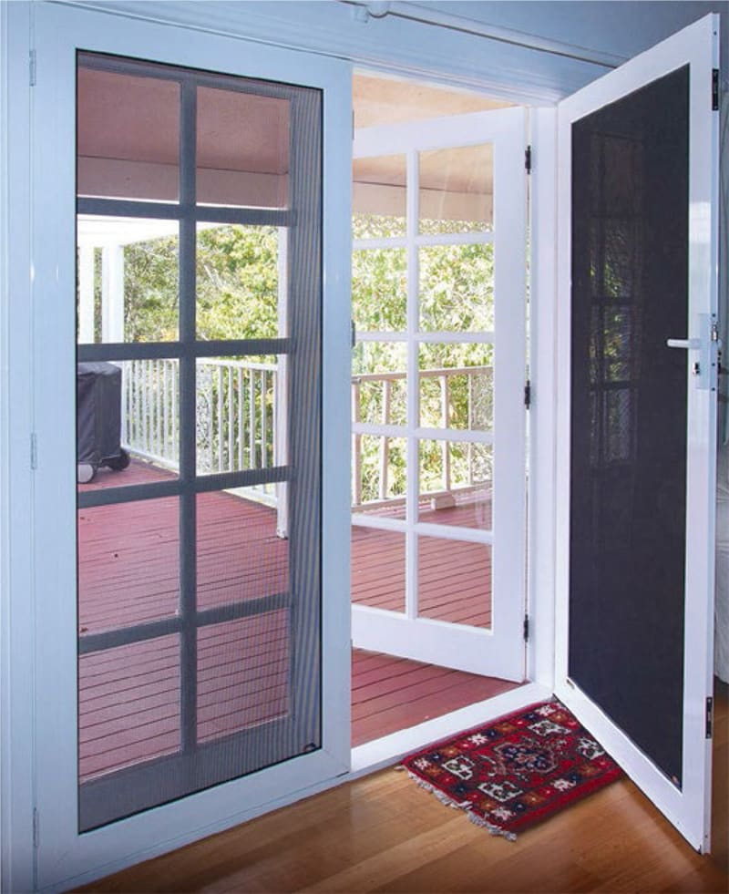 Appealing front door security screens brisbane ideas for Security screen doors for french doors